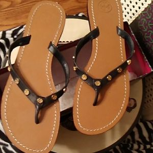 Tory Burch Leather Sandals